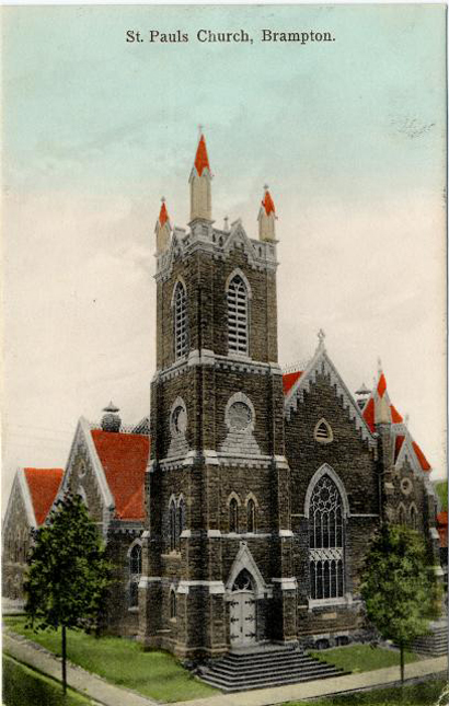 Image is of St. Pauls Church, Brampton
